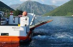 De kruising van de Baai van Kotor (Boka) Royalty-vrije Stock Foto's