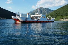 De kruising van de Baai van Kotor (Boka) Royalty-vrije Stock Fotografie
