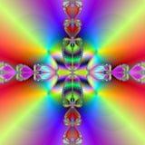 De kruising van de regenboog Stock Afbeeldingen