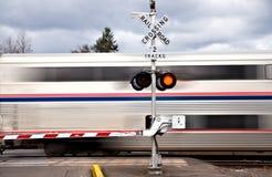 De Kruising van de spoorweg royalty-vrije stock afbeeldingen