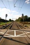 De kruising van de spoorweg Royalty-vrije Stock Fotografie