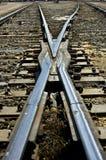 De Kruising van de spoorweg Stock Foto