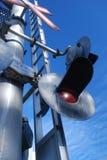 De Kruising van de spoorweg Stock Foto's