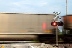 De kruising van de trein Stock Foto