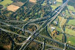 De kruising van de weg Stock Afbeelding