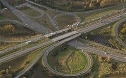 De Kruising van de weg bij Spitsuur Stock Fotografie