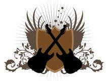 De kruising van Gitaren stock illustratie