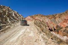 de kruising van het noorden van Argentinië in de vrachtwagen stock afbeelding