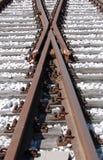 De Kruising van het spoor Stock Afbeeldingen