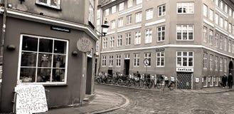 De kruising van de Oude Stadsstraat in Kopenhagen royalty-vrije illustratie