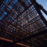 De kruising van Steigers Stock Foto