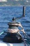 De kruk van de zeilboot stock foto