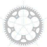 De krukas van de fiets - Vectortekening Royalty-vrije Stock Foto