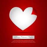 De Krul van de Pagina van het hart stock illustratie
