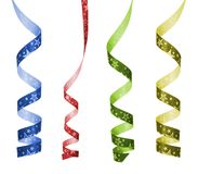 De krullende linten van de kleur Stock Fotografie