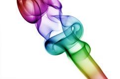 De krullende Rook van de Regenboog Stock Foto