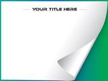 De krulvector van de pagina met copyspace Stock Foto