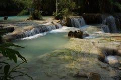 De Kuangsi-Watervallen Stock Foto's