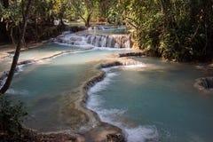 De Kuangsi-Watervallen royalty-vrije stock afbeelding