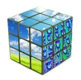 De kubus van de aard Royalty-vrije Stock Foto's