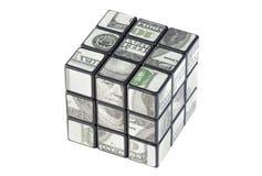 De kubus van de dollar Royalty-vrije Stock Foto's
