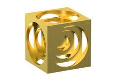 De kubus van de gouden keerder vector illustratie