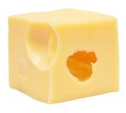 De kubus van de kaas royalty-vrije stock afbeelding