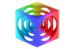 De kubus van de kleurrijke keerder stock illustratie