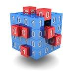 De kubus van de technologie Stock Afbeeldingen