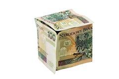 De kubus van Pln Stock Afbeelding