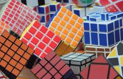 De kubusachtergrond van Rubik Royalty-vrije Stock Afbeelding