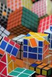 De kubusachtergrond van Rubik Royalty-vrije Stock Fotografie