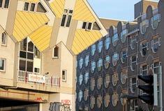 De kubushuizen in Rotterdam, Nederland Stock Afbeelding