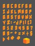 De kubussen van brieven Stock Foto's