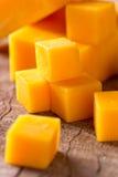 De kubussen van de kaas royalty-vrije stock foto's