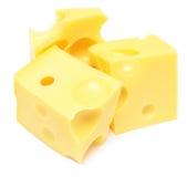 De kubussen van de kaas Stock Foto's