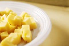 De kubussen van de kaas stock foto