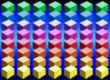 De Kubussen van de kleur Stock Foto