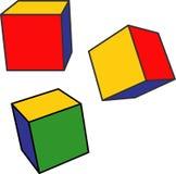De kubussen van de kleur Royalty-vrije Stock Foto