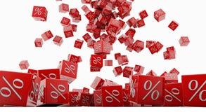 De kubussen van de korting Royalty-vrije Stock Afbeelding