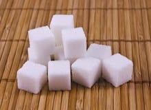 De kubussen van de suiker stock foto's