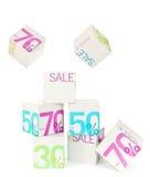 De Kubussen van de verkoop Stock Afbeeldingen