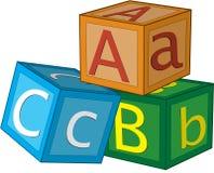 De kubussen van het alfabet Royalty-vrije Stock Foto