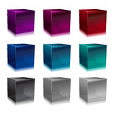 De kubussen van het glas Stock Afbeeldingen