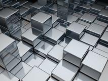 De kubussen van het metaal Stock Afbeelding