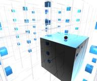 De Kubussen van het netwerk Stock Afbeelding