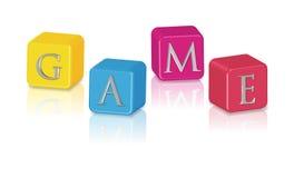 De kubussen van het spel Stock Afbeelding