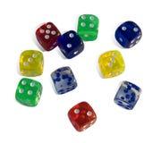 De kubussen van het spel Royalty-vrije Stock Afbeeldingen