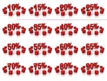 De kubussen van percenten Royalty-vrije Stock Foto