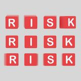 De kubussen van risicobrieven 3D Illustratie Royalty-vrije Stock Foto